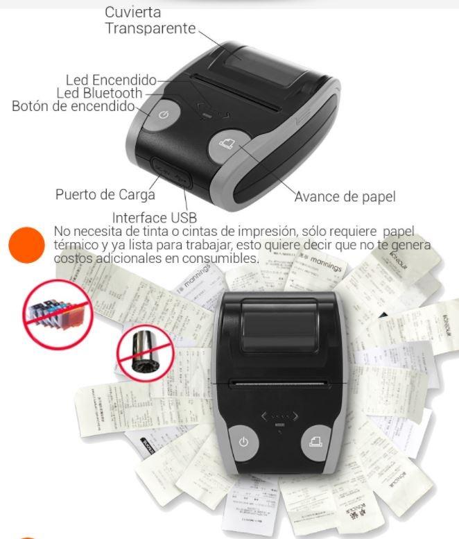 Impresora Termica Portatil Bluetooth 58mm Qs5806