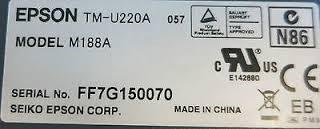 impresora ticketera epson tmu220a serial paralelo (10 unds.)