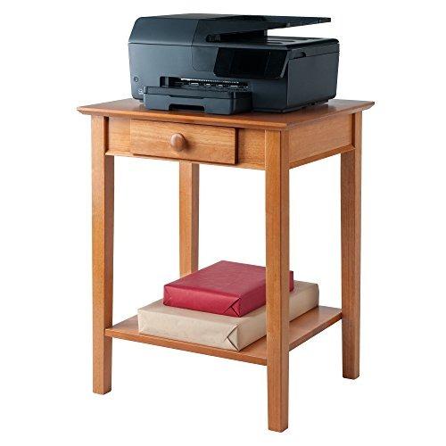 Impresora winsome soporte de madera con caj n y estante mi 5 en mercado libre - Estante con cajon ...