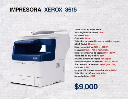 impresora xerox 3615