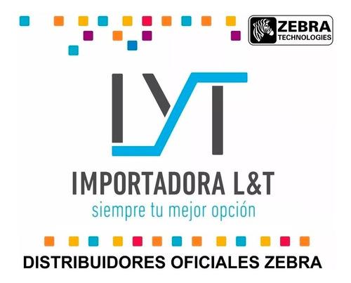 impresora zebra zc300 + ribbon ymcko + 100 tarjetas pvc full
