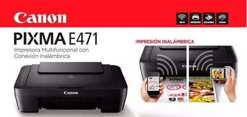 impresoras canon 2910 - e471 sistema de tinta continua wifi