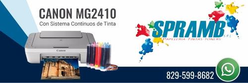 impresoras canon mg2410 + sistema de tintas continuo