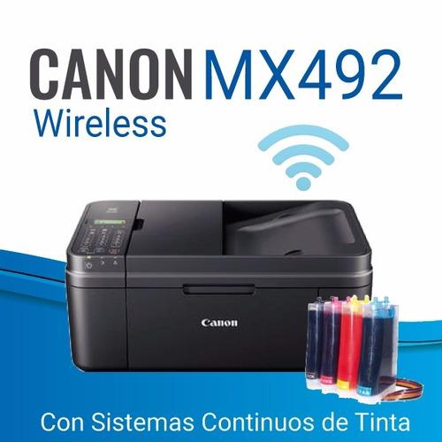 impresoras canon mx492+sistema continuo de tinta