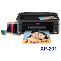 Impresora Multifuncional Epson Xp 201+sistema+chip+tinta