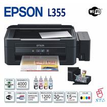 Impresora Multifuncional Epson L355 Sistema Tinta Color Wifi