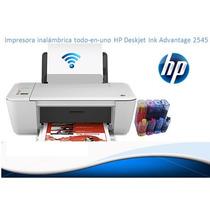 Impresora Inalámbrica Todo En 1 Hp2545 Wifi + Sist Continuo