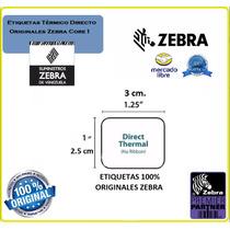 Rollo De 2340 Etiquetas Termicas Originales Zebra(1,25 X 1)