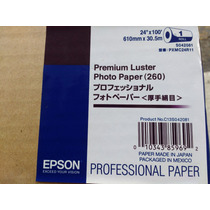 Papel Fotográfico Epson Luster 24