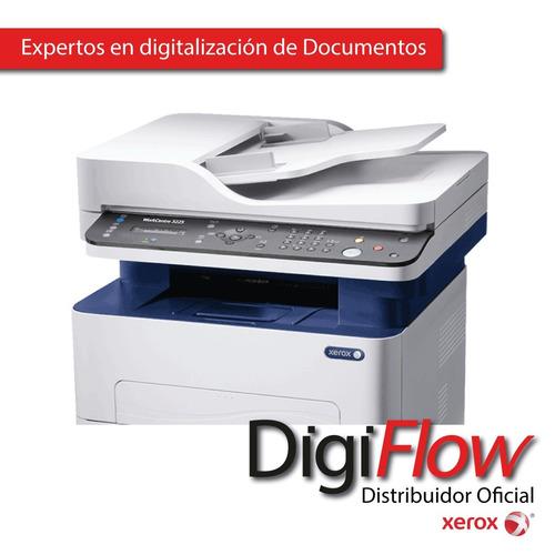 impresoras xerox 3225 laser multifuncion byn combo x2