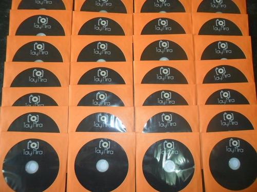 impressão 500 cds ou dvds personalizados + gravação