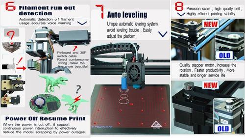 impressora 3d core xy tronxy 2020 nova atualizado x5sa 24v
