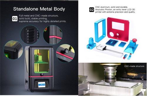 impressora 3d de anycubic photon sla lcd - uv led