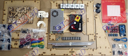 impressora 3d - kit completo para montagem - gtmax3d graber