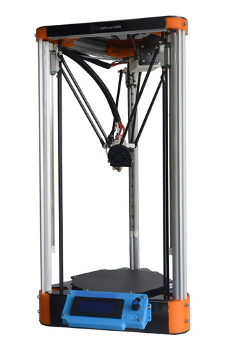 impressora 3d kossel mini - mesa aquecida hexagonal 198mm