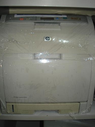 impressora color laserjet, marca hp, modelo 3000