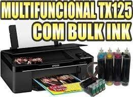 impressora epson tx125/tx135 com bulk ink tinta sublimatica