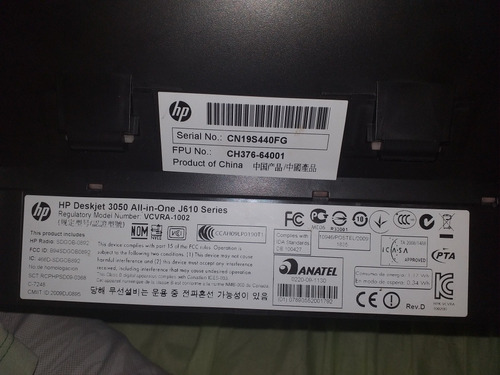 impressora hp deskjet 3050 j610,imprimi,escanea,xerox e wifi