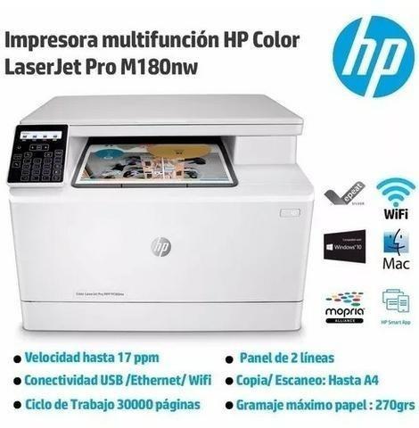impressora hp laser color pro m180nw 110v transfer p. entreg