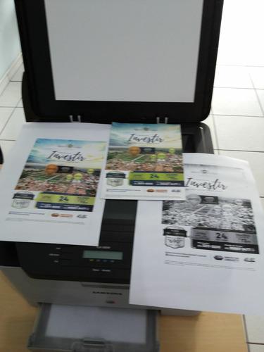 impressora laser color clx-3305w usada