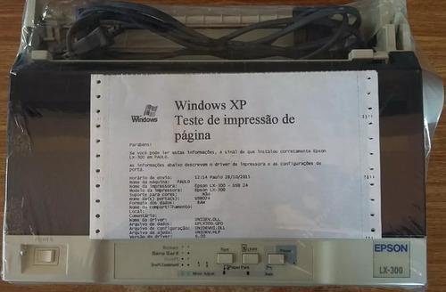 impressora matricial epson lx 300  semi nova+frete gratis