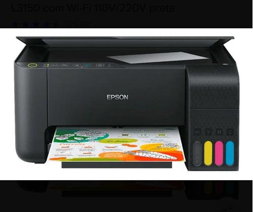 impressora multifuncional epson eco tank l3150 nova, garanti
