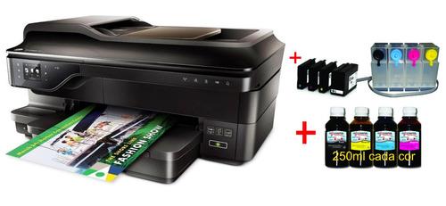 impressora multifuncional hp 7612 a3 + bulk ink papel arroz