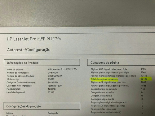 impressora multifuncional hp m127 usada.