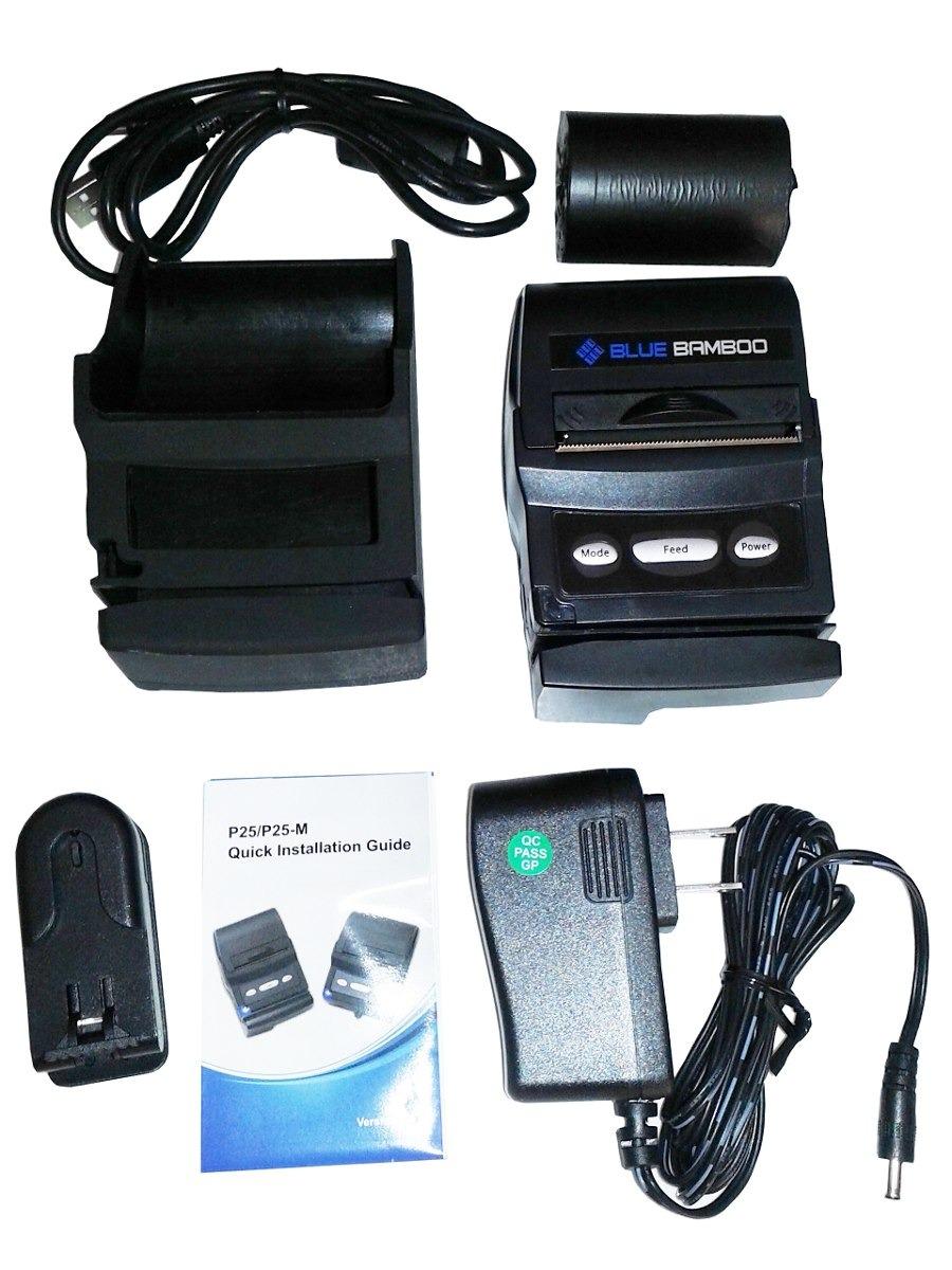 impressora térmica blue bamboo p25 m portátil bluetooth mini r