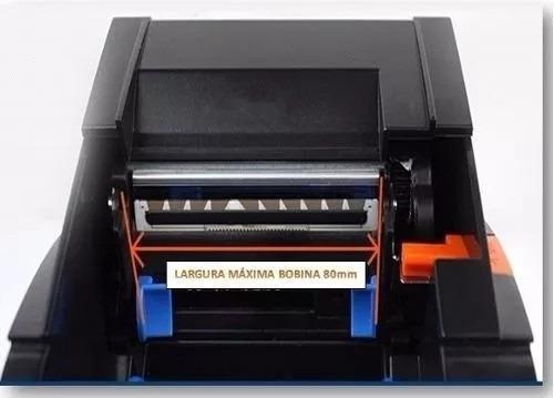 impressora termica codigo de barras qr code etiquetas 80mm