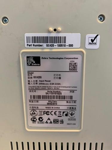 impressora térmica de etiquetas zebra gc420t