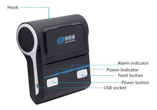 impressora térmica portátil cupom 80mm bivolt usb bluetooth