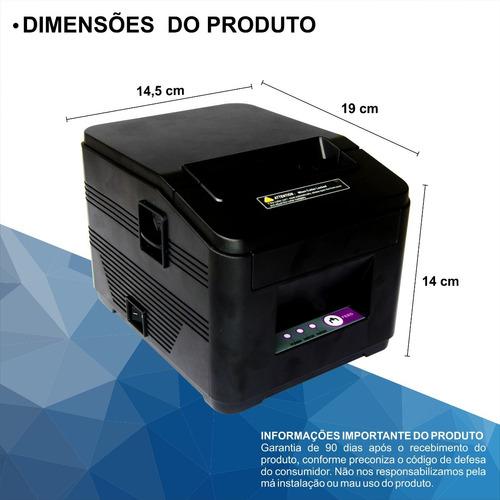 impressora termica usb qr não fiscal cupom 80mm guilhotina.