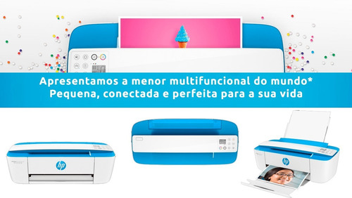 impressora wireless multifuncional hp 3776 azul - j9v88a-ak4