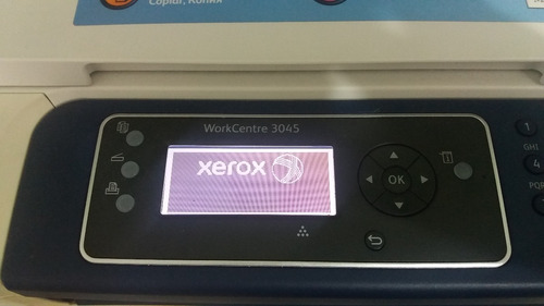 impressora xerox workcentre 3045 monocromática com defeito
