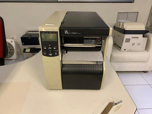 impressora zebra 170xi4 usada térmica etiqueta funcionando