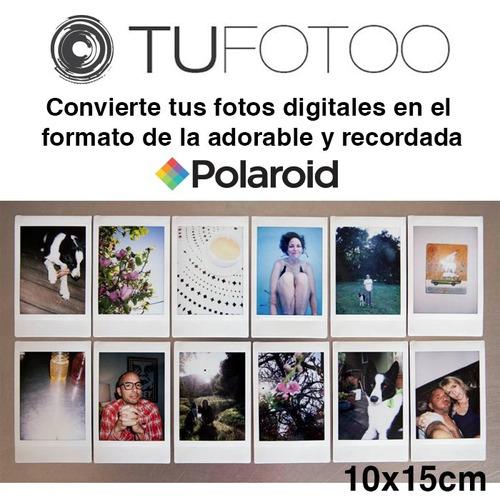 imprime tus fotos con diseño polaroid