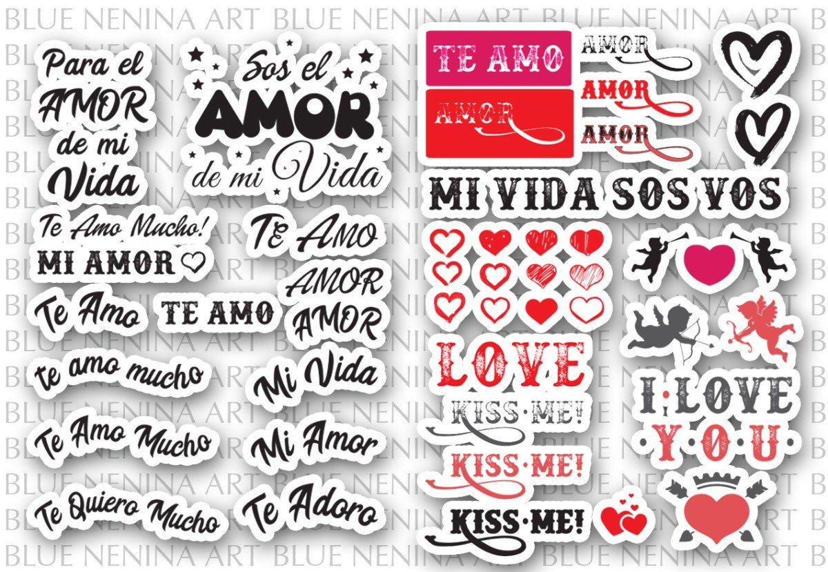 Imprimible Frases Vectores Ai San Valentin Dia Enamorados 65 00