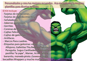 Imprimible Invitaciones Hulk