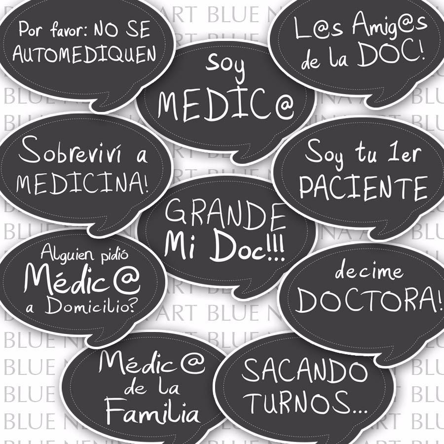 Imprimibles 10 Frases Prop Egresado Me Recibi Doctor Medica