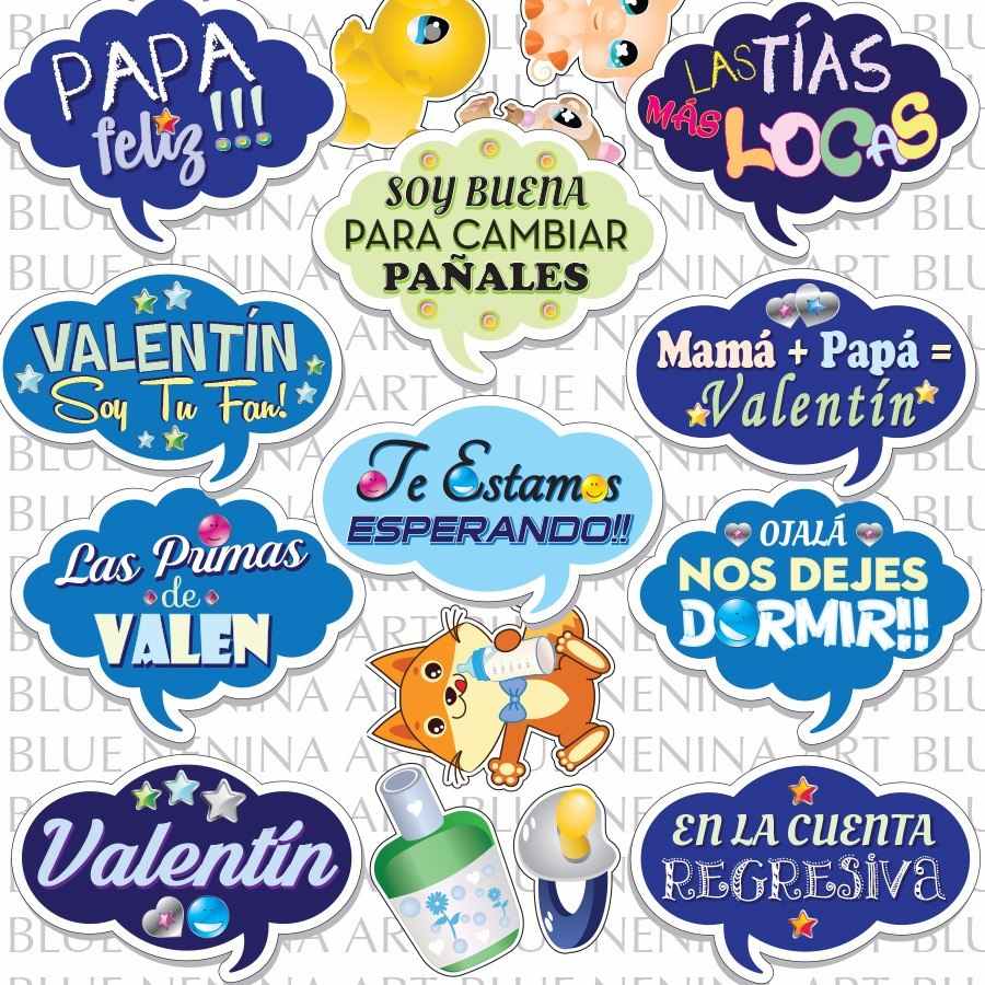 Imprimibles 18 Frases Props Baby Shower Party Fiesta Bebes. Cargando Zoom.