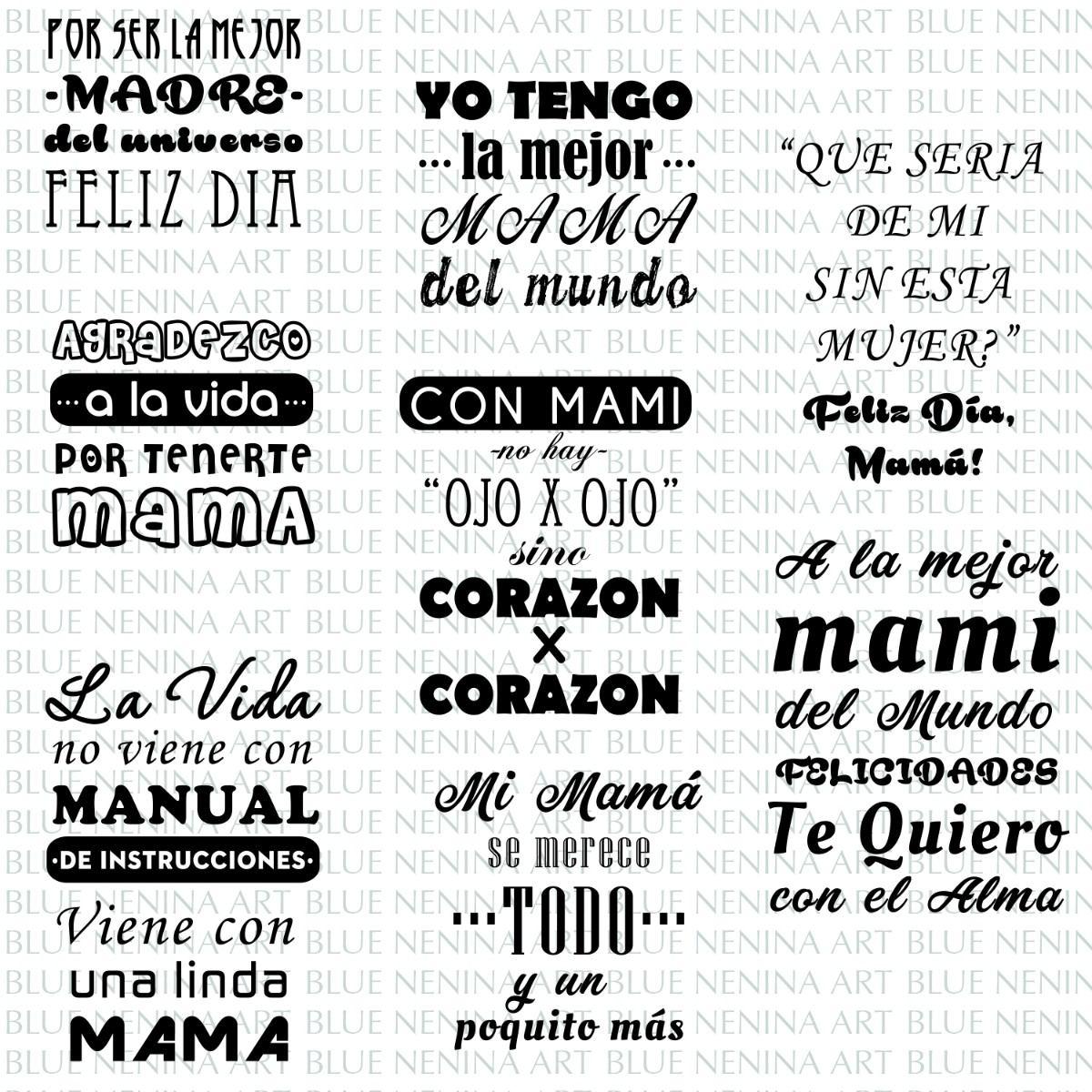 Imprimibles 8 Frases Madre Vectores Regalos De Navidad Mamá - $ 70 ...