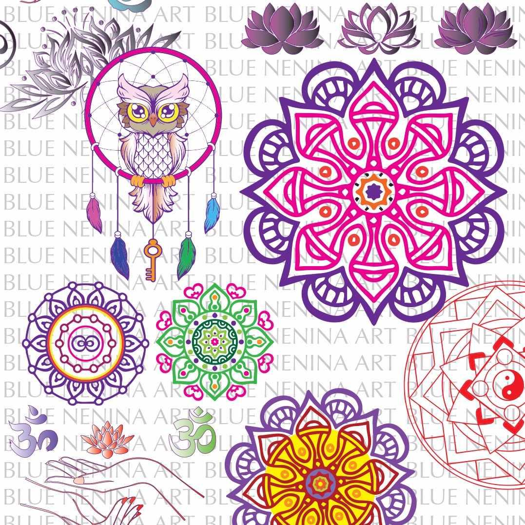 Imprimibles Colores Vector Mandalas Om Flor De Loto Yoga 6000