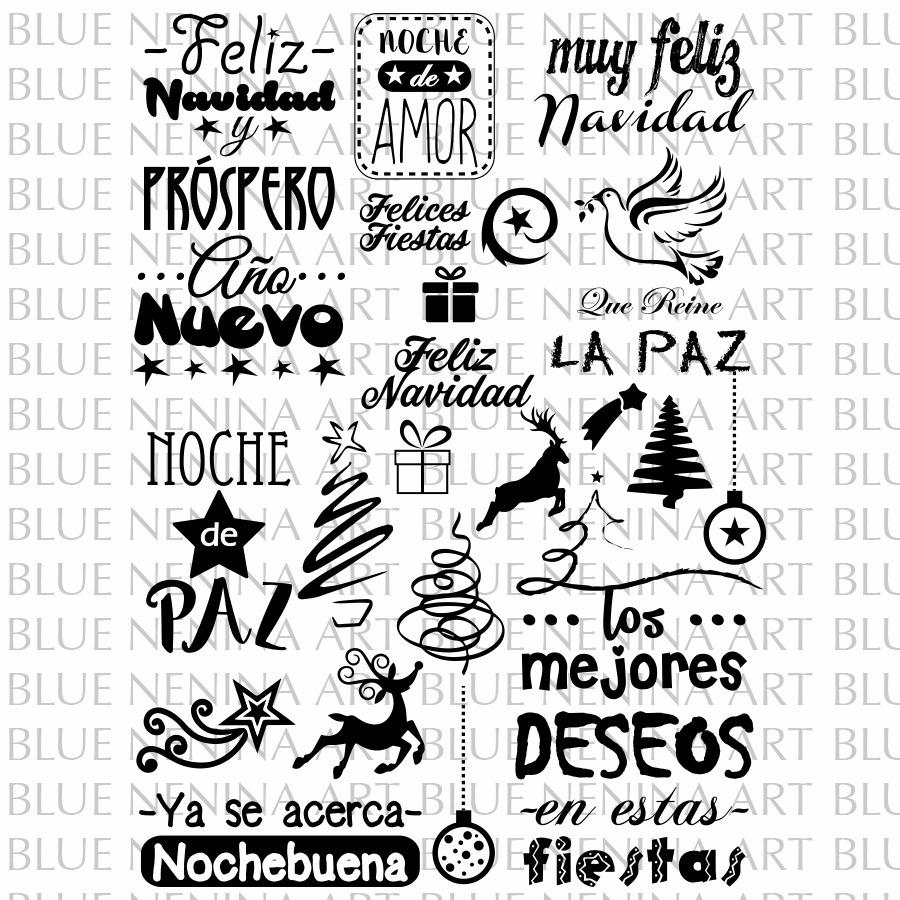 Imprimibles Pack Frases Feliz Navidad Vector Vinilos Fiestas - $ 55 ...