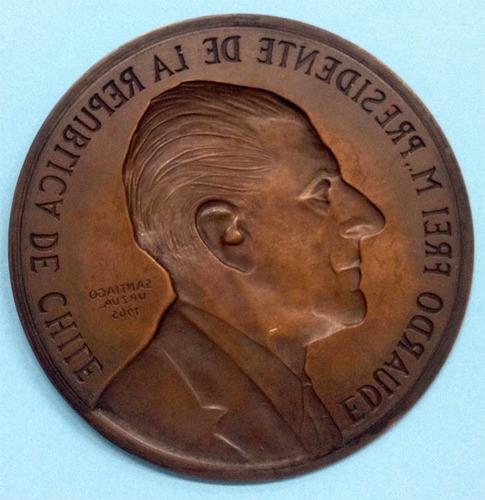 impronta medalla presidencial eduardo frei montalva.