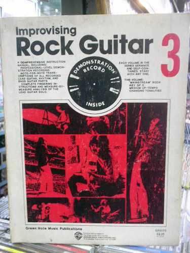 improvising rock guitar 3 - livro raro importado