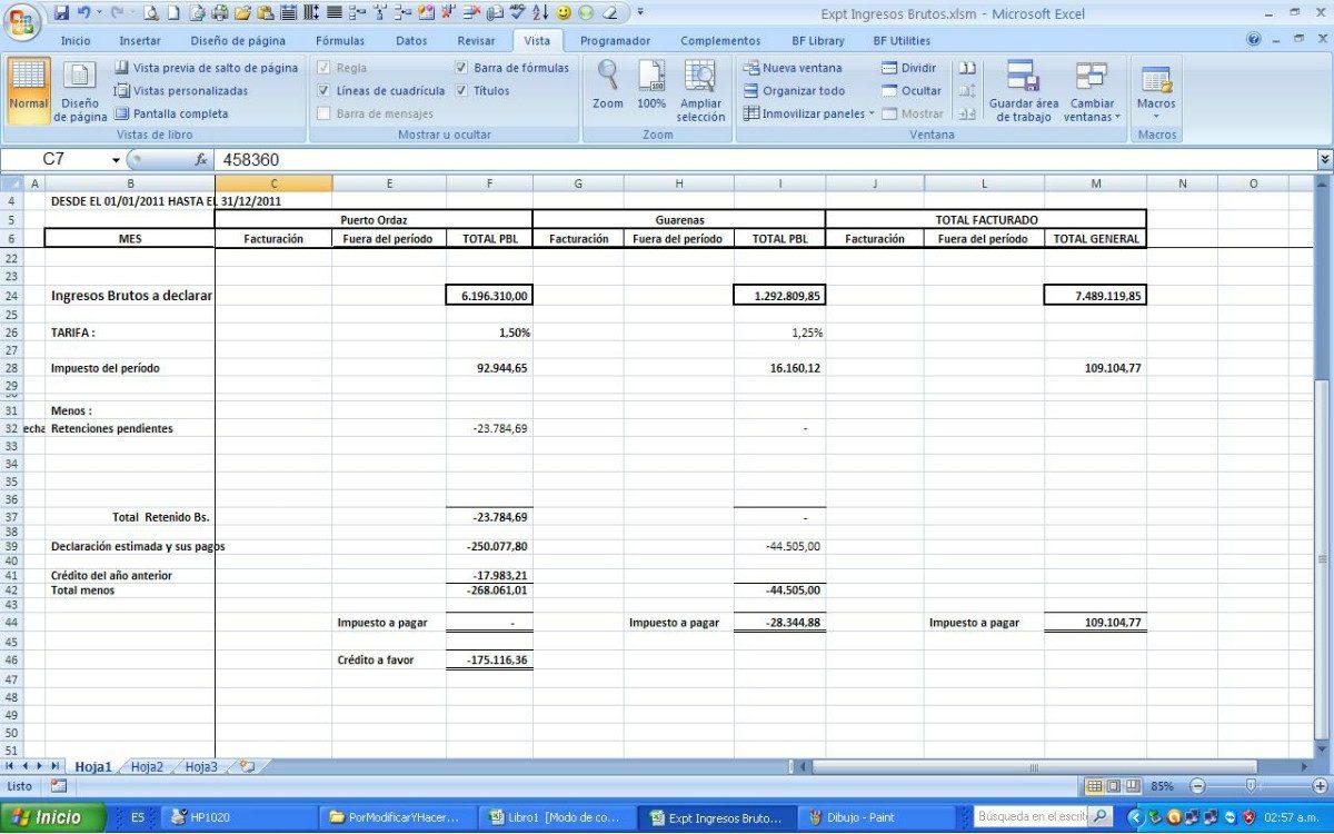 Impuesto Municipal, Ingresos Brutos, Actividades Economicas - Bs ...