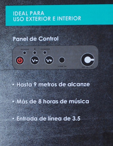 impulse bocina uso rudo portatil inalambrica bluetooth boc22