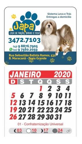 imãs de geladeira c/calendário embalados  arte grátis - 1000