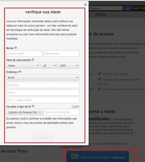 Imvu Access Pass (passe De Acesso) +18 Age( Id Verificada)